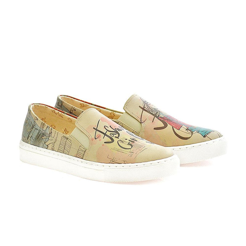 Fashion Girl Slip on Sneakers Shoes VN4008 (506278379552)