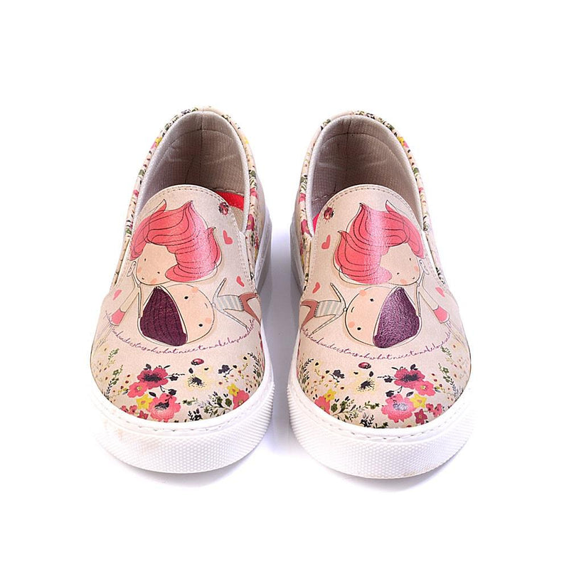 Cute Couple Slip on Sneakers Shoes VN4026 (506279133216)