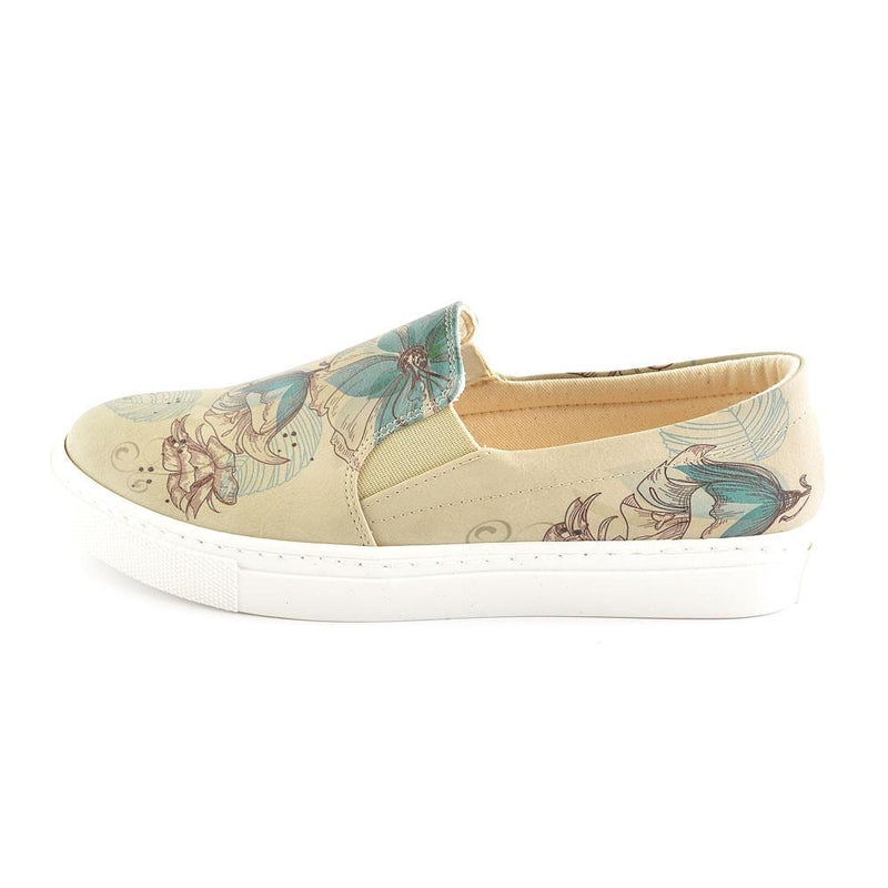 Flowers Slip on Sneakers Shoes VN4031 (506279297056)