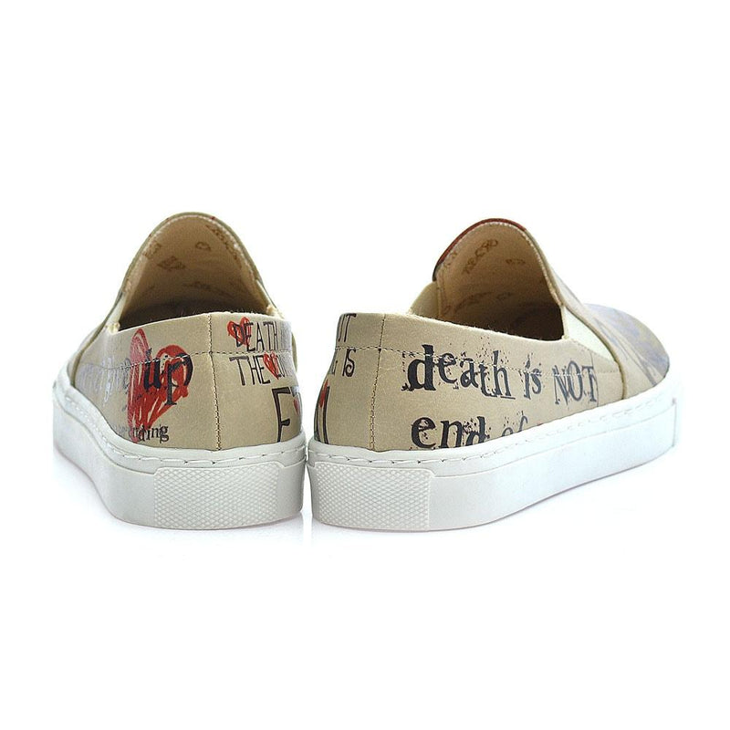Death is not End of Love Slip on Sneakers Shoes VN4034 (1405818011744)