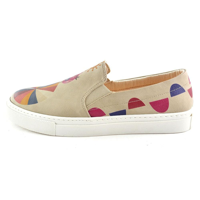 Colors and Elephant Slip on Sneakers Shoes VN4039 (506279395360)