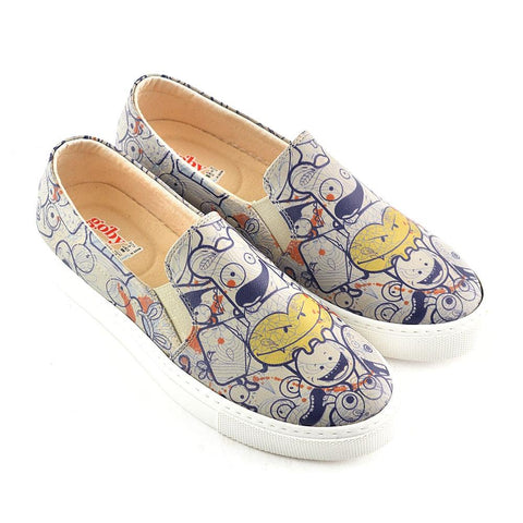 Crazy Smileys Slip on Sneakers Shoes VN4044 - Goby GOBY Slip on Sneakers Shoes