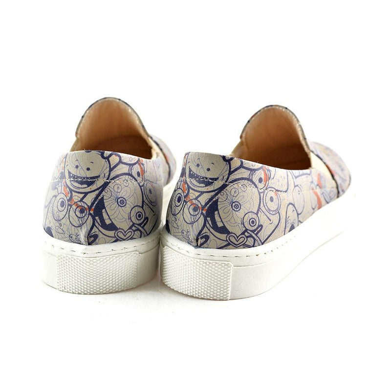 Crazy Smileys Slip on Sneakers Shoes VN4044 (506279657504)