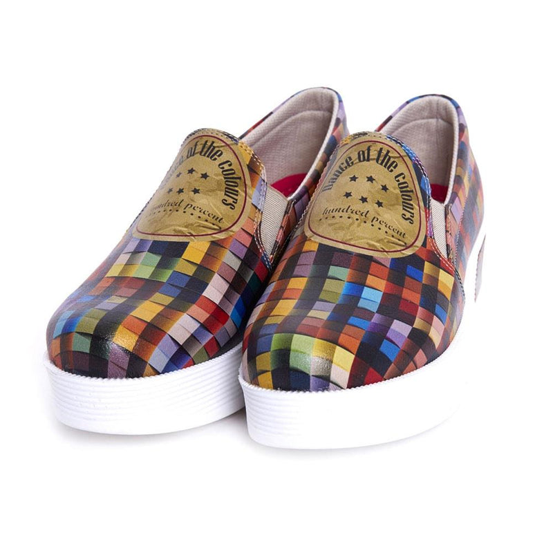 Dance of the Colors Slip on Sneakers Shoes VN4204 (506279919648)