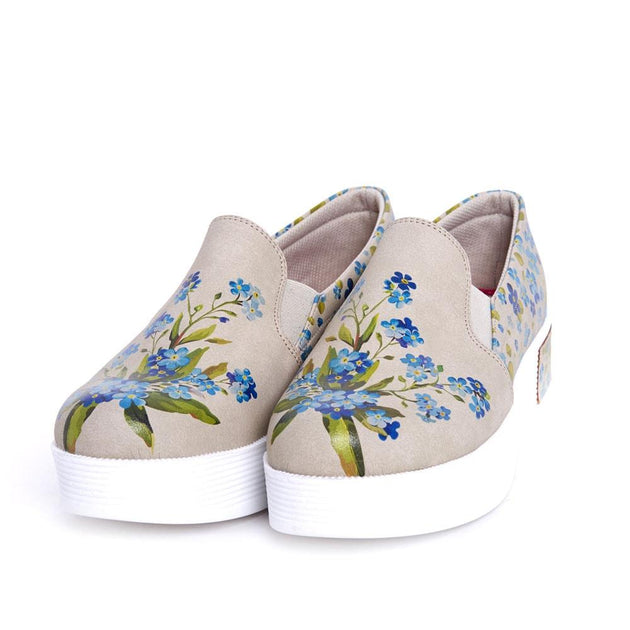 Flower Slip on Sneakers Shoes VN4206 - Goby GOBY Slip on Sneakers Shoes