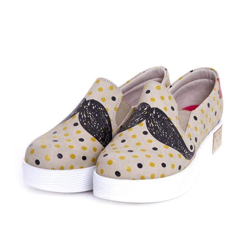 Moustache Slip on Sneakers Shoes VN4208 (506280050720)