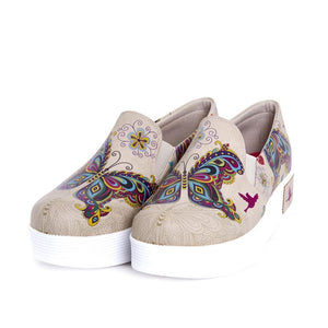 Butterfly Slip on Sneakers Shoes VN4210, Goby, GOBY Slip on Sneakers Shoes