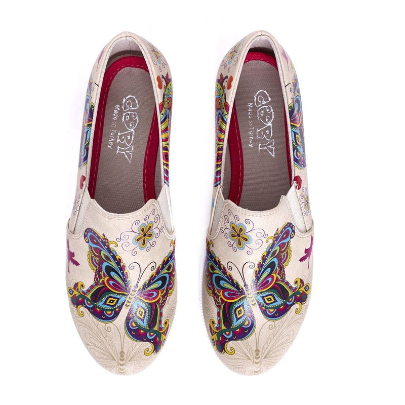 Butterfly Slip on Sneakers Shoes VN4210 (506280149024)