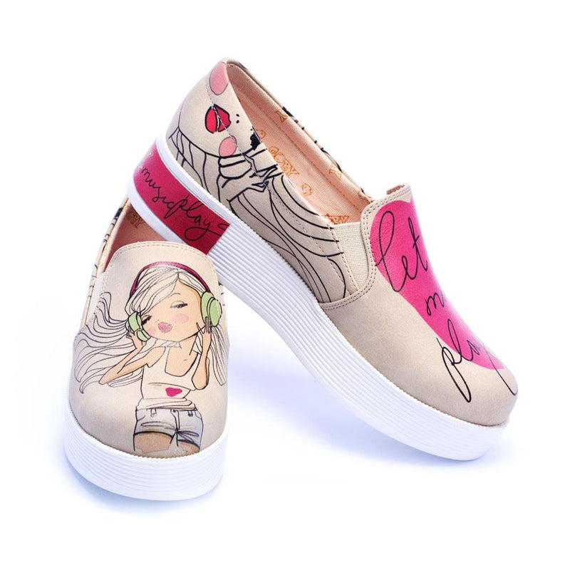 Let the Music Play Slip on Sneakers Shoes VN4219
