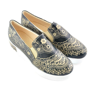 Pattern Slip on Sneakers Shoes VN4221