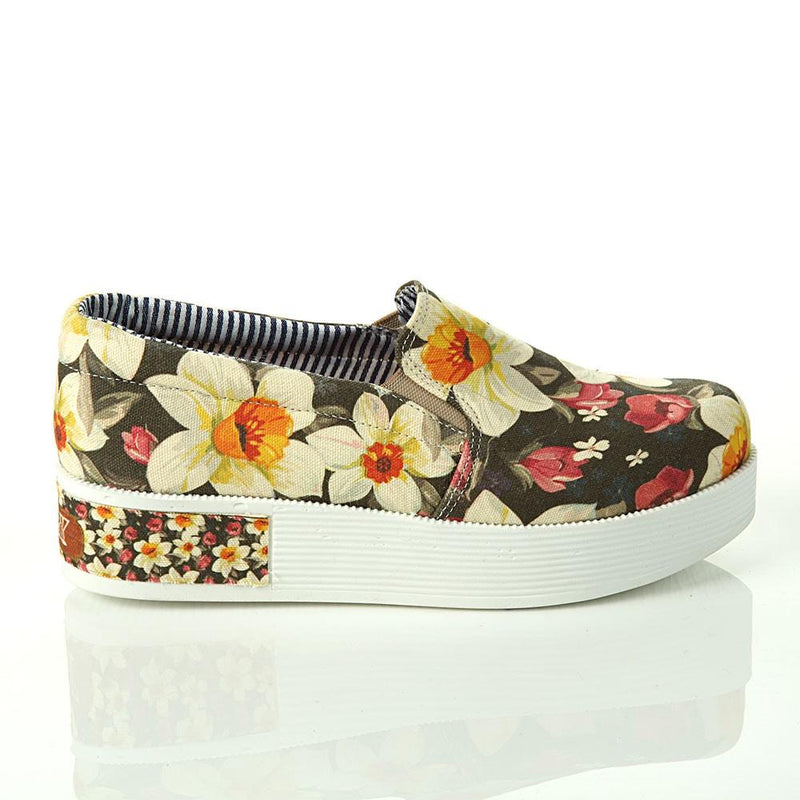 Flowers Slip on Sneakers Shoes VN4307 (506280935456)