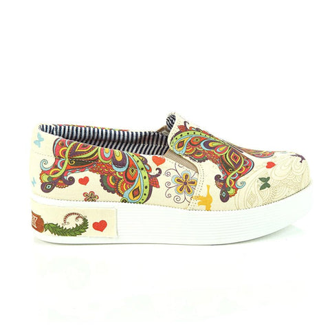Butterfly Slip on Sneakers Shoes VN4308, Goby, GOBY Slip on Sneakers Shoes