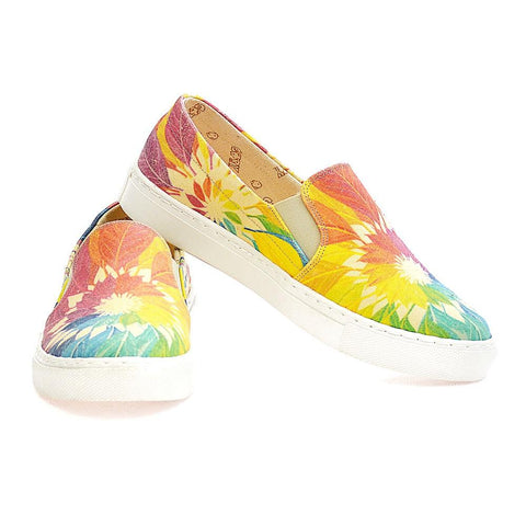 GOBY Colored Leaves Slip on Sneakers Shoes VN4402