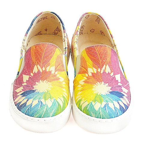 Colored Leaves Slip on Sneakers Shoes VN4402 - Goby GOBY Slip on Sneakers Shoes