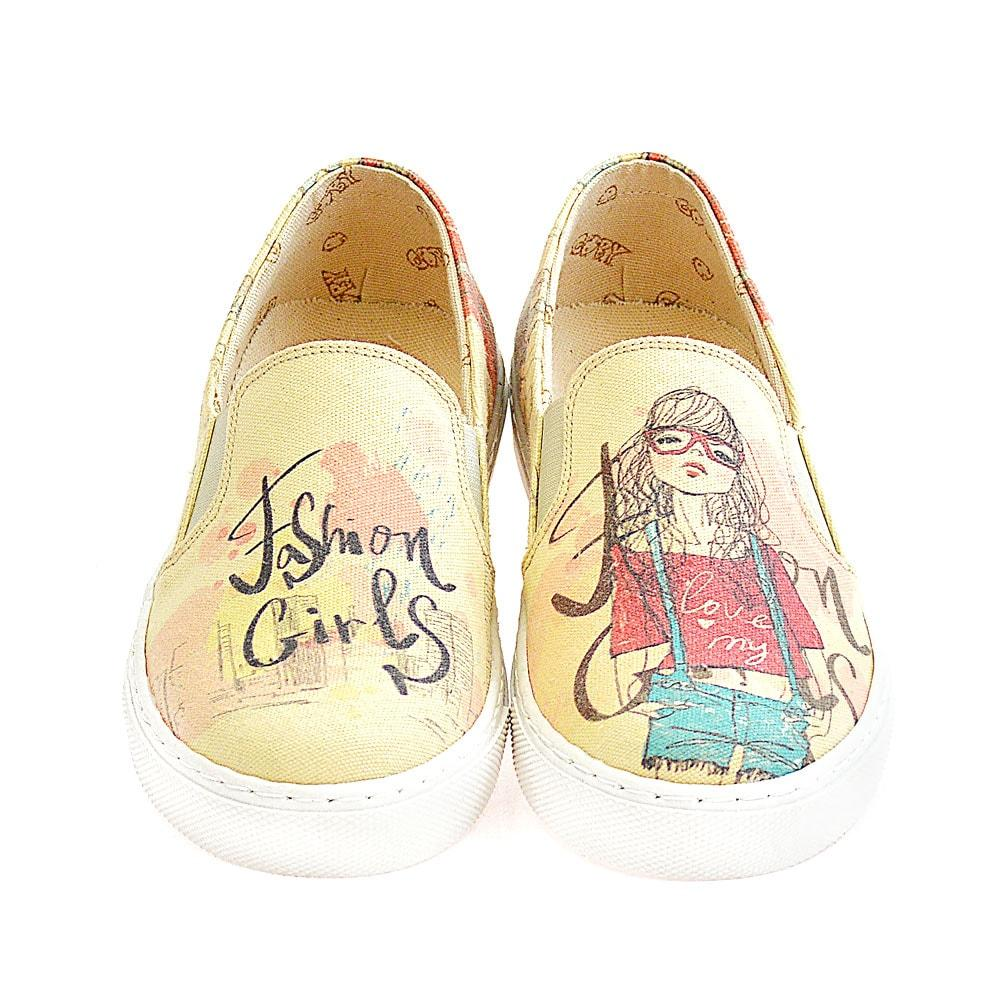 Fashion Girl Slip on Sneakers Shoes VN4407 - Goby GOBY Slip on Sneakers Shoes