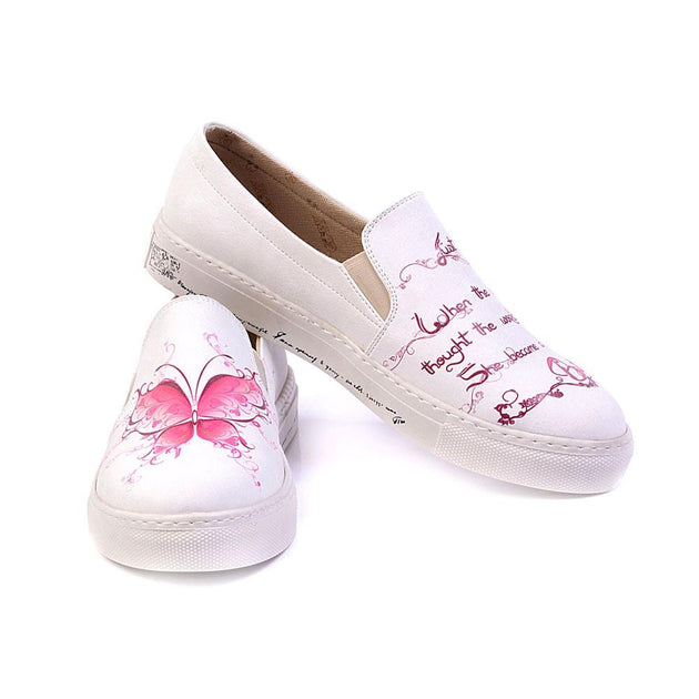 Butterfly Slip on Sneakers Shoes VN4903, Goby, GOBY Slip on Sneakers Shoes