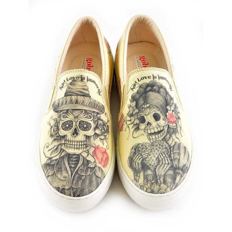 Love is Immortal Slip on Sneakers Shoes VNY101 (506282934304)