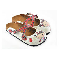 Red & White Girl Clogs WCAL120 (737673576544)