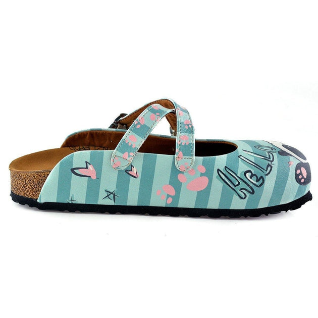 Blue & Pink Panda Clogs WCAL122, Goby, CALCEO Clogs