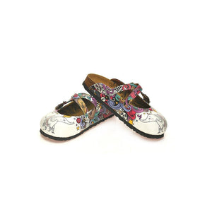 CALCEO White Elephant Cross-Strap Clogs WCAL126