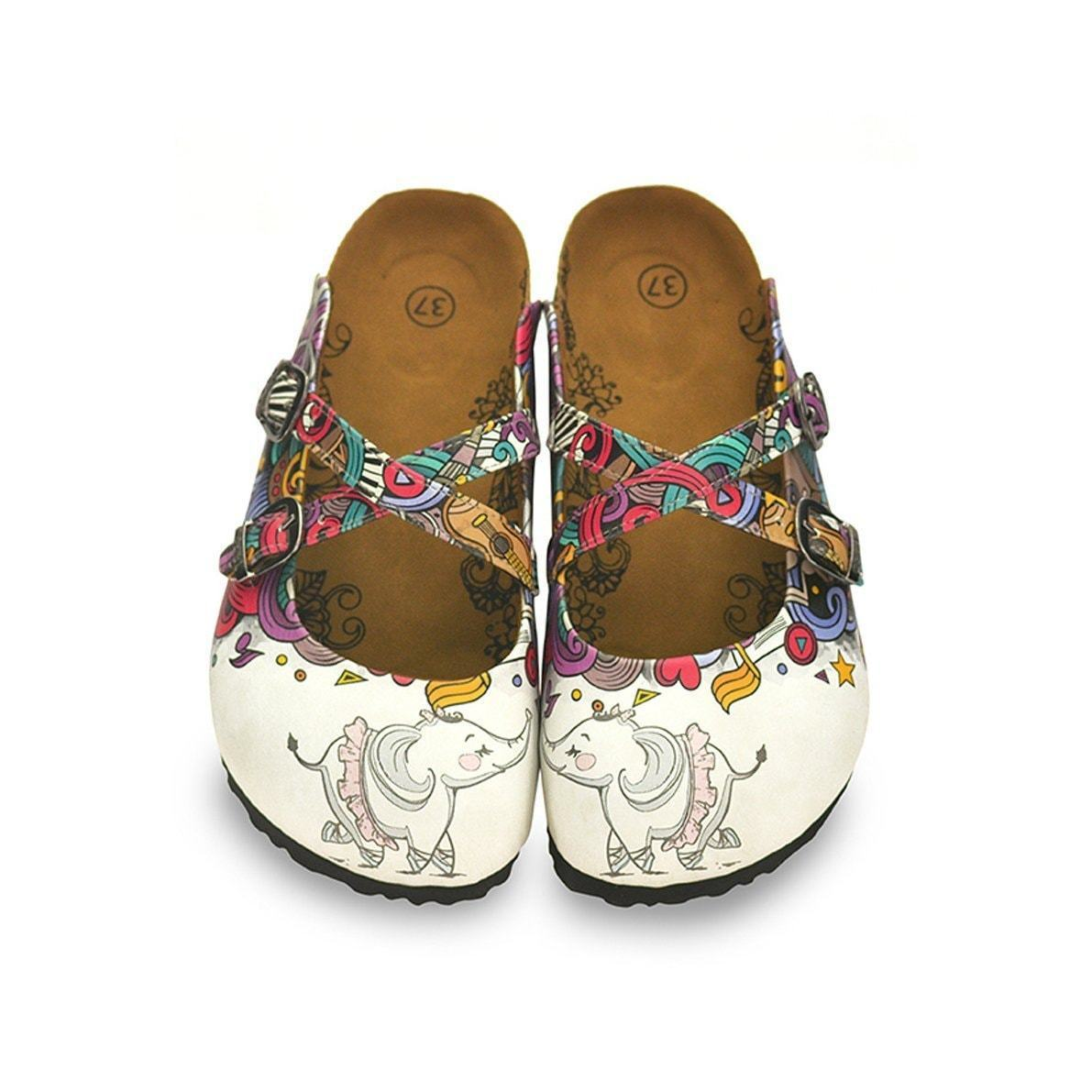 White Elephant Cross-Strap Clogs WCAL126