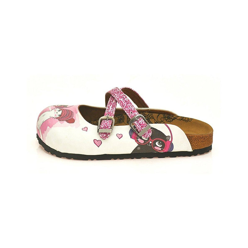 Pink We Are Happy Cross-Strap Clogs WCAL128 (737673117792)