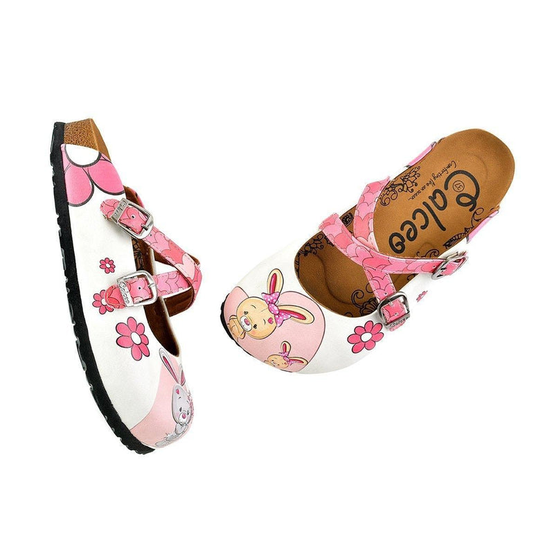 Pink Love Bunnies Clogs WCAL137 (737672429664)
