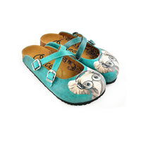 Teal Elephant Clogs WCAL140