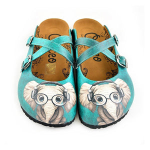 CALCEO Teal Elephant Clogs WCAL140