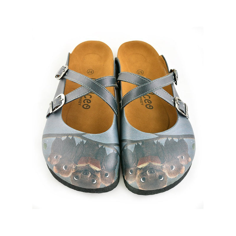 Brown Bat Clogs WCAL142 (737671544928)