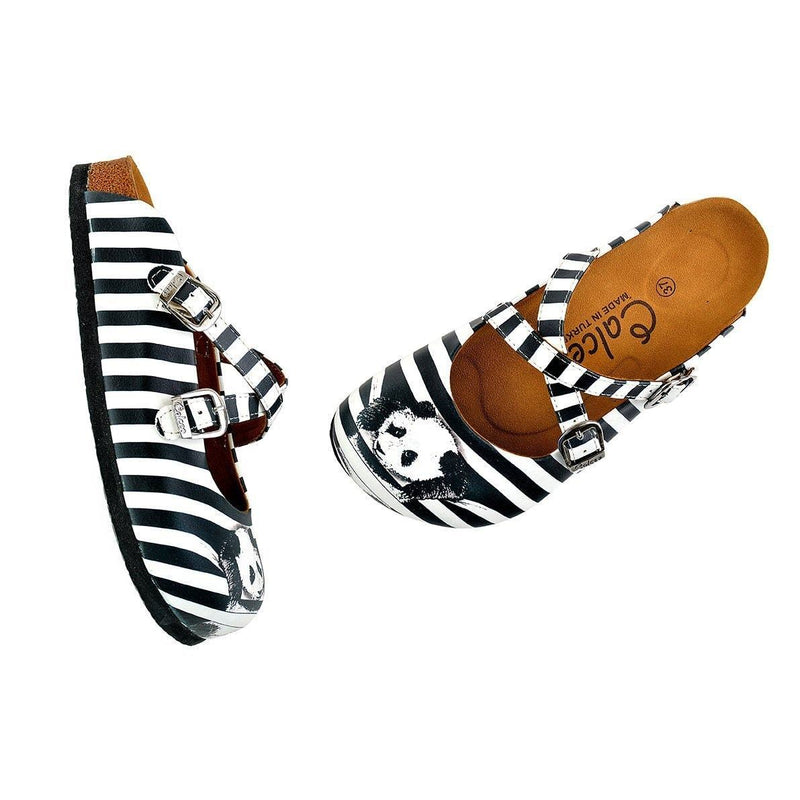 Black & White Panda Clogs WCAL143 (737671282784)