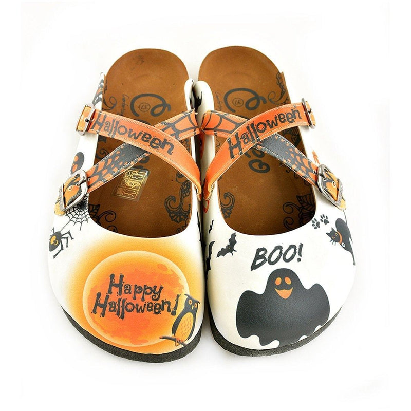 Happy Halloween Clogs WCAL150 (737667514464)