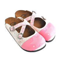 Pink & White Star Clogs WCAL154 (737671053408)