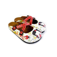 Red and Black Polkadot Pattern Cute Girl Patterned Clogs - WCAL171