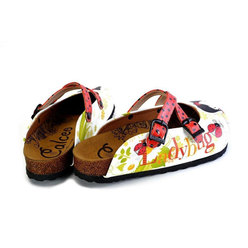 Red and Black Polkadot Pattern Cute Girl Patterned Clogs - WCAL171 (774937575520)