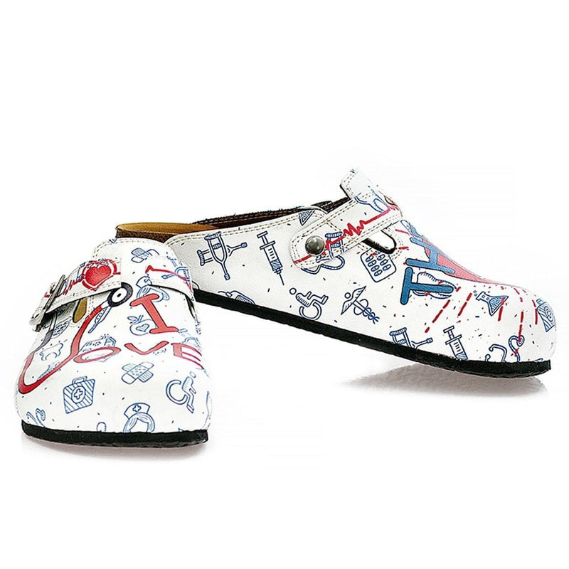 White Doctor Clogs WCAL325