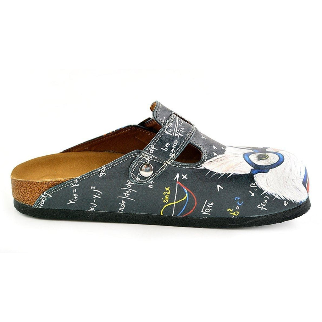 White & Gray Cat Clogs WCAL343