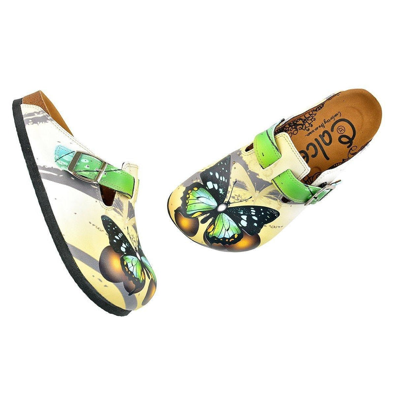 Green Butterfly Clogs WCAL344 (737670299744)