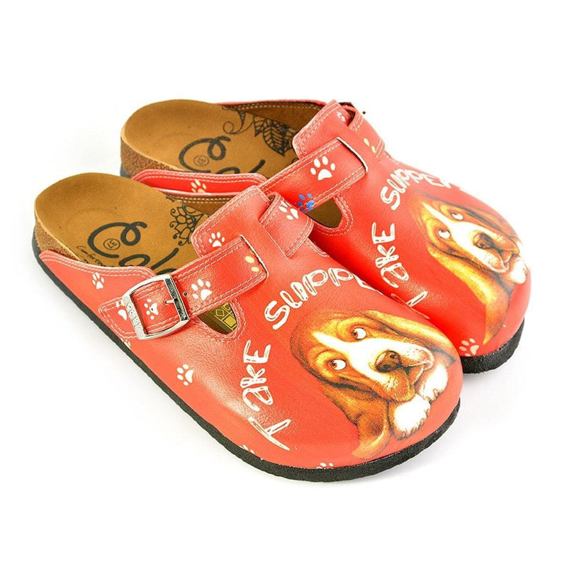 Red Take Suppers Clogs WCAL349 (737670201440)