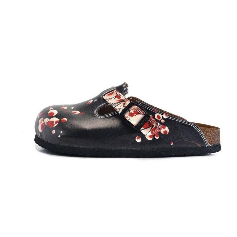 Black & White Floral Mule WCAL359 (774938755168)