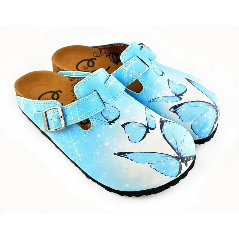 Blue Butterfly Clogs WCAL361 (774938886240)
