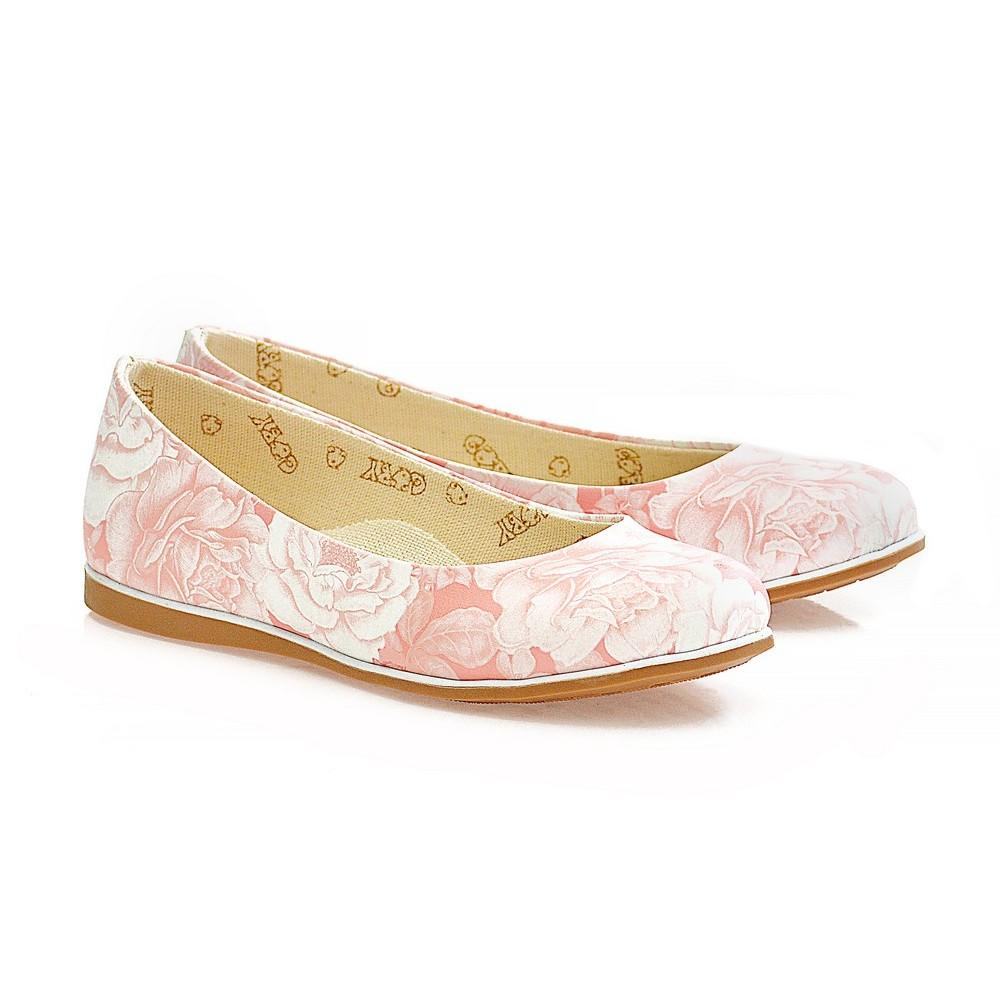 Pink Flowers Ballerinas Shoes WCOC1107