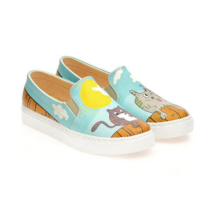 Techno Cats Slip on Sneakers Shoes WCOC4127