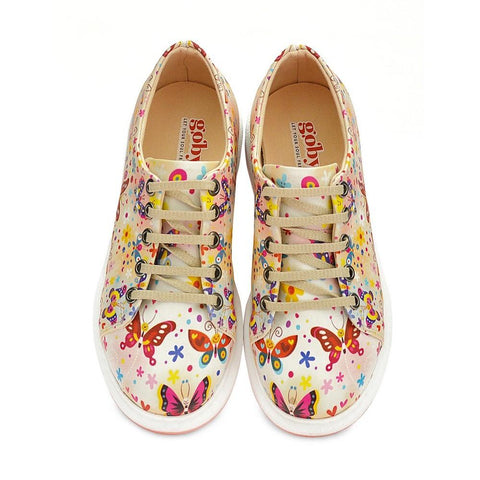 GOBY Cute Butterflies Slip on Sneakers Shoes WCOC501