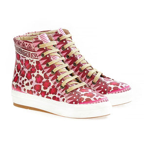 GOBY Pink Leopard Sneaker Boots WCV2028