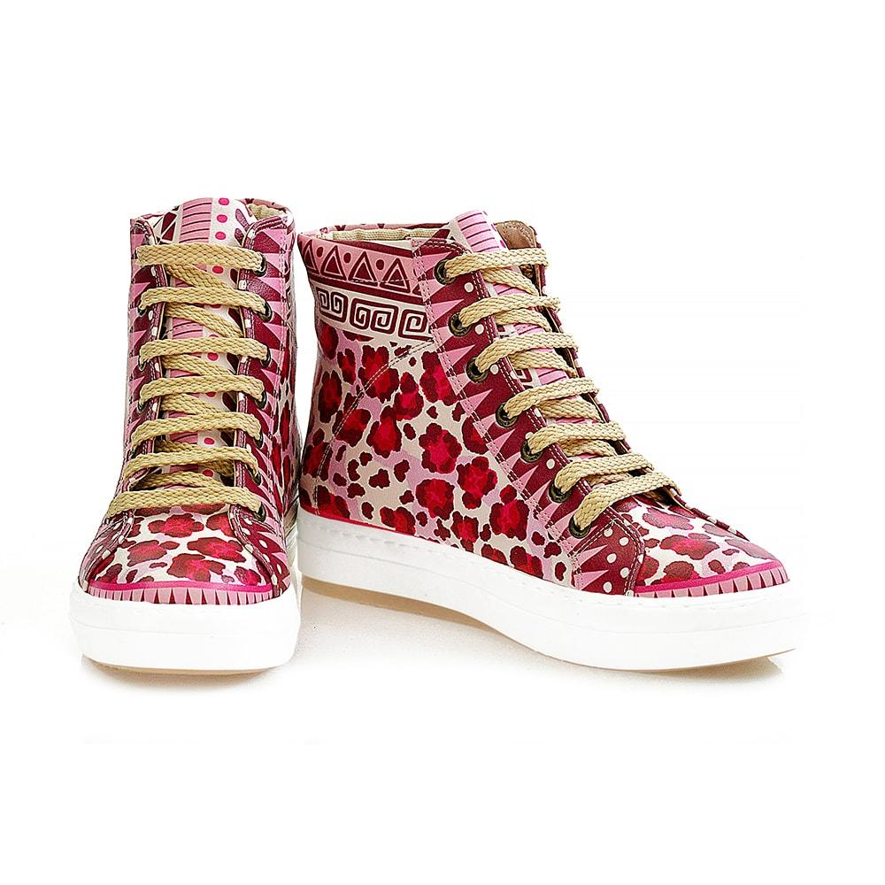 Pink Leopard Sneaker Boots WCV2028