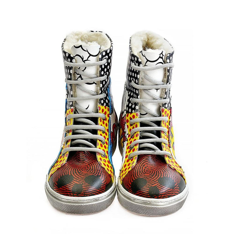 Pop Art Short Boots WJAS123 (1421229752416)
