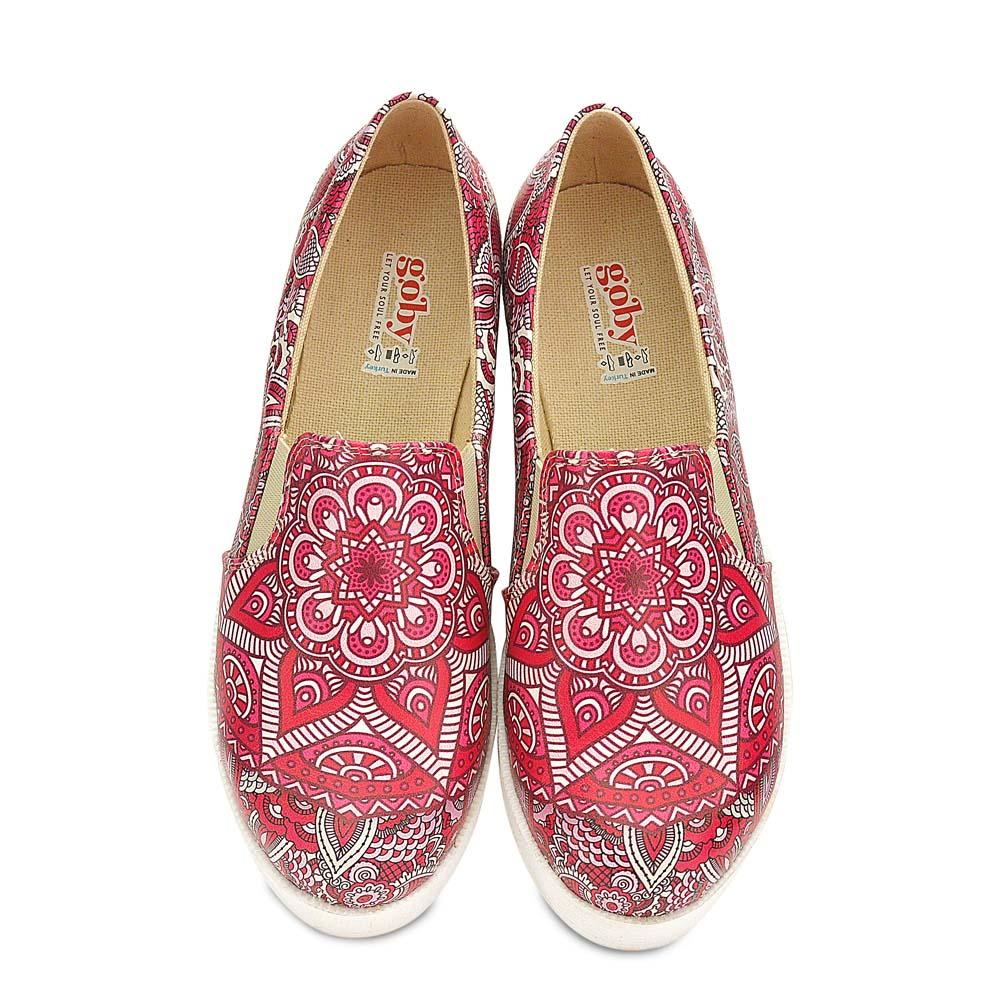 GOBY Pink Mandala Slip on Sneakers Shoes WVN4229