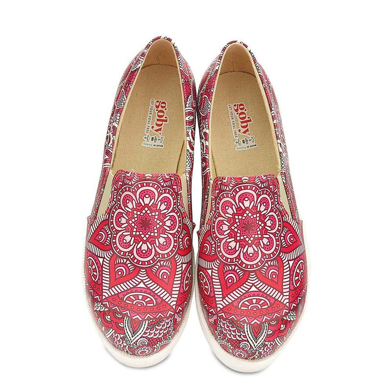Pink Mandala Slip on Sneakers Shoes WVN4229 (506283065376)