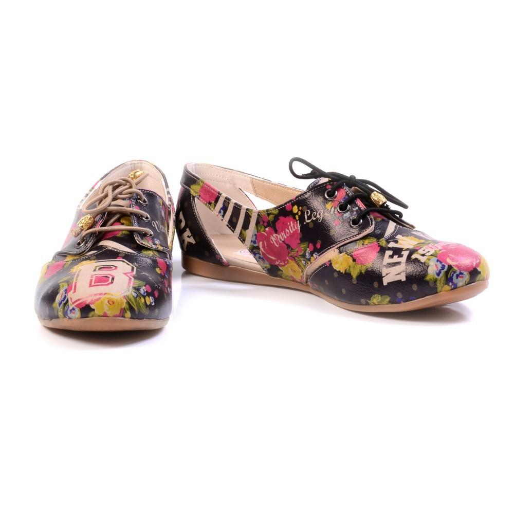 GOBY Roses Ballerinas Shoes YAB103